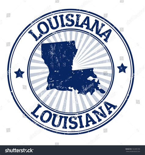 Louisiana Search By Name Grunge Rubber St With The Name And Map Of Louisiana Vector Illustration