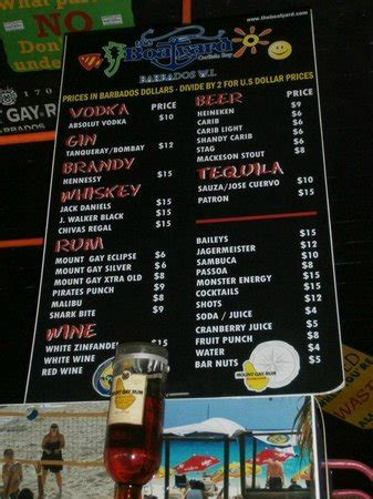 boatyard prices the boatyard brown s beach barbados picture of the