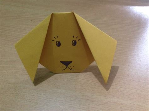 How To Make A Paper Puppy - simple paper crafts