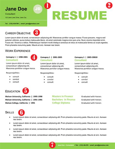 stand out resume templates free resume format resume format that stands out