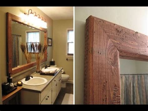 framing bathroom mirror ideas creative ideas for framing a bathroom mirror
