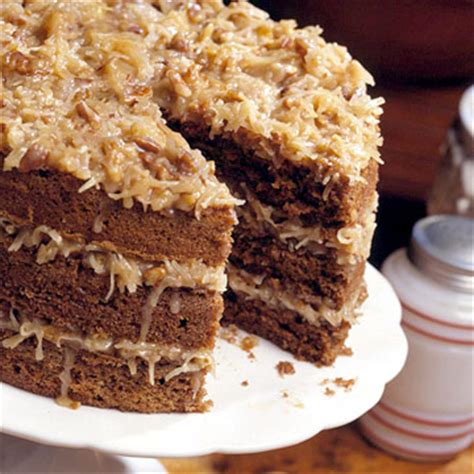 triple tiered german chocolate cake midwest living