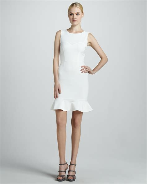 White Dress Pantai S lyst erin fetherston sleeveless flounce dress in white