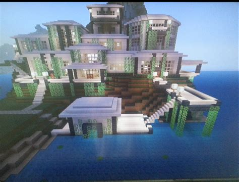 craft boat minecraft xbox modern mansion with boathouse mcx360 show your creation