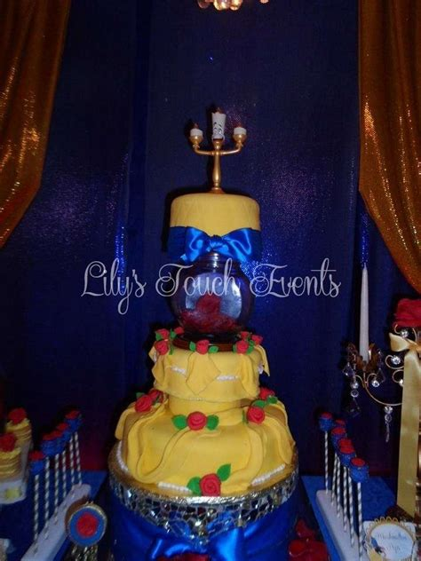 quinceanera themes beauty and the beast beauty and the beast quincea 241 era party ideas photo 7 of