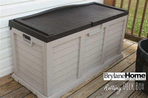 Small Patio Storage Box by Brylanehome Rolling Deck Storage Box Arts Crackers