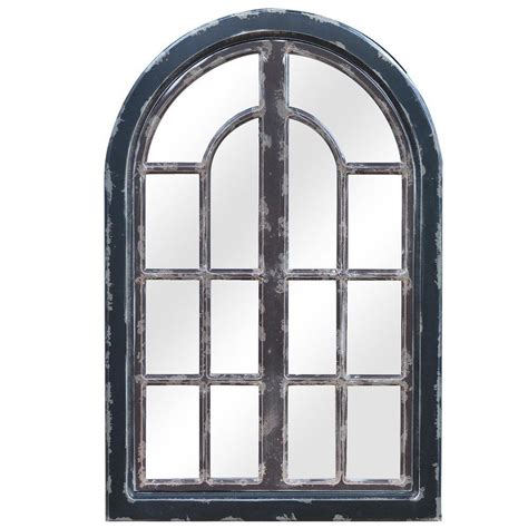 mirror window wall decor large 43 quot aged painted wood wall decor rustic window
