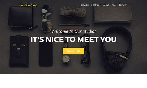 themes bootstrap agency start bootstrap free bootstrap themes and templates