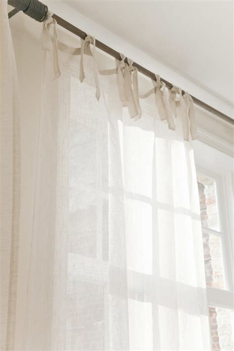 linen tie top curtains top 25 ideas about white linen curtains on pinterest
