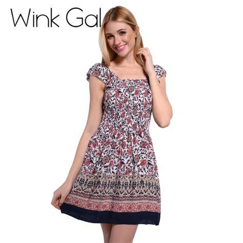 Sweet Mini Dress wink gal summer style dress sundress floral patterns