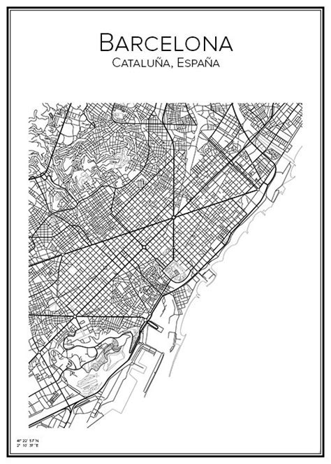 5 themes of geography barcelona barcelona poster city city print and barcelona spain