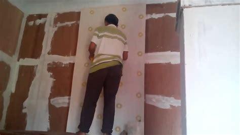 cara memasang wallpaper dinding murah 101 cara memasang wallpaper dinding rumah youtube