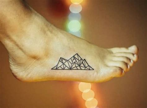 simple geometric tattoos 64 simple mountain tattoos collection
