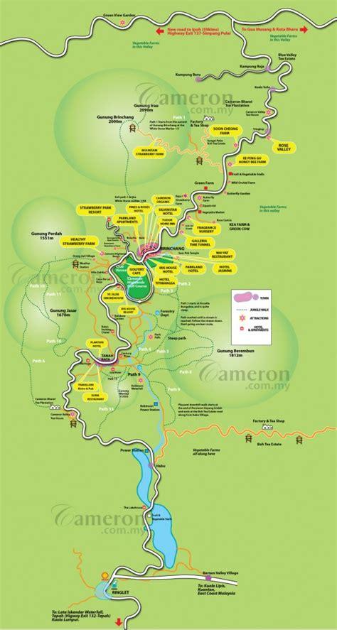 cameron highlands map cameron highlands