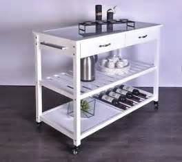 Glass Top Kitchen Island by Portable 2 Drawer Glass Top Kitchen Island With Wine Rack