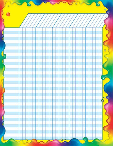 printable reward chart classroom rainbow gel classroom reward chart primary school
