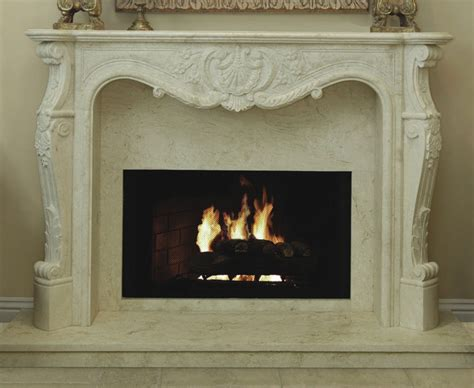 Fireplace Mantels St Louis by King Louis 308 Hand Carved Natural Stone Fireplace Mantel