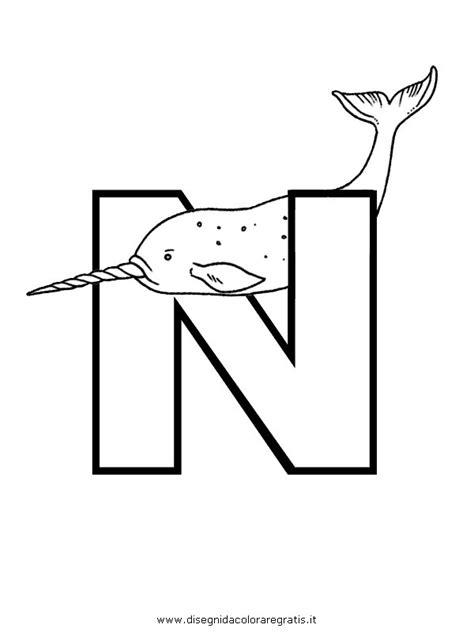 foto lettere alfabeto disegno alfabeto narvalo categoria alfabeto da colorare