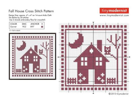 house pattern cross stitch house and owl free chart cross stitch cross stitch and