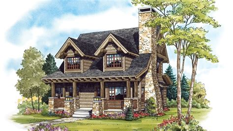 One Story Log Cabin Floor Plans by Cabin Home Plans Cabin Designs From Homeplans Com
