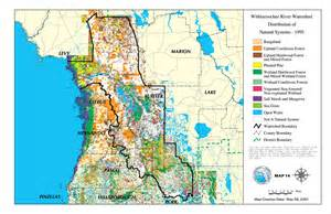 florida uplands map withlacoochee river watershed distribution of