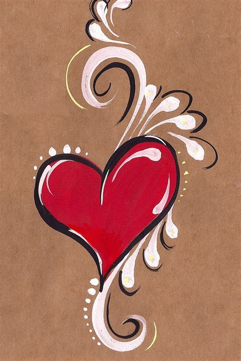 tattoo paper on canvas heart heart painting brown paper and brown