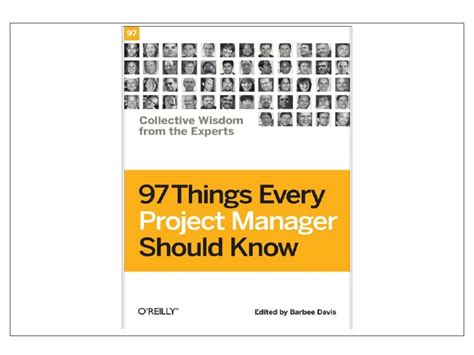 things every house should have 97 things every project manager should know