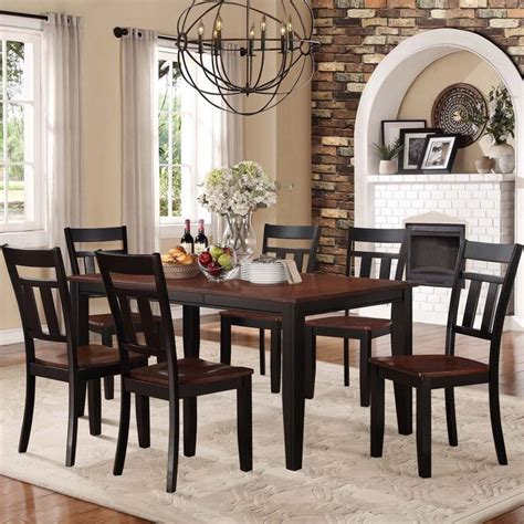 Homelegance Britanica Black Country Style Tribecca Home Eli Rustic Two Tone Mission Extending Dining Set By Tribecca Home Cherries Home
