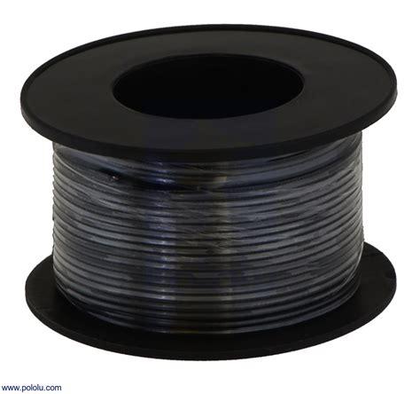 pololu stranded wire black 22 awg 50