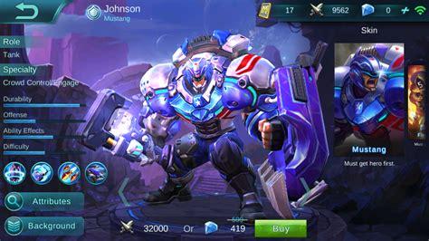 mainan mobile legend johnson review mobile legends fanatic