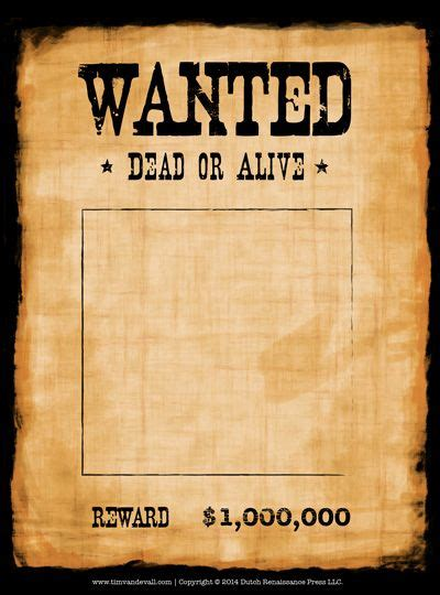 wanted poster template art crafts for kids pinterest