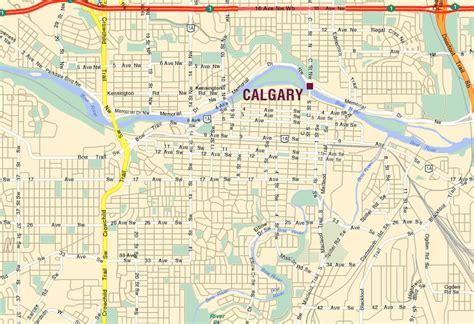 calgary city map streets calgary map