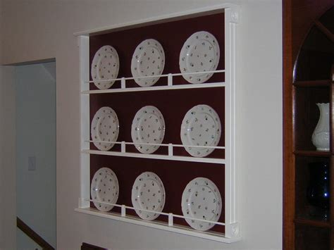 Display Shelf For Plates by Plate Display Rack Project I Built By