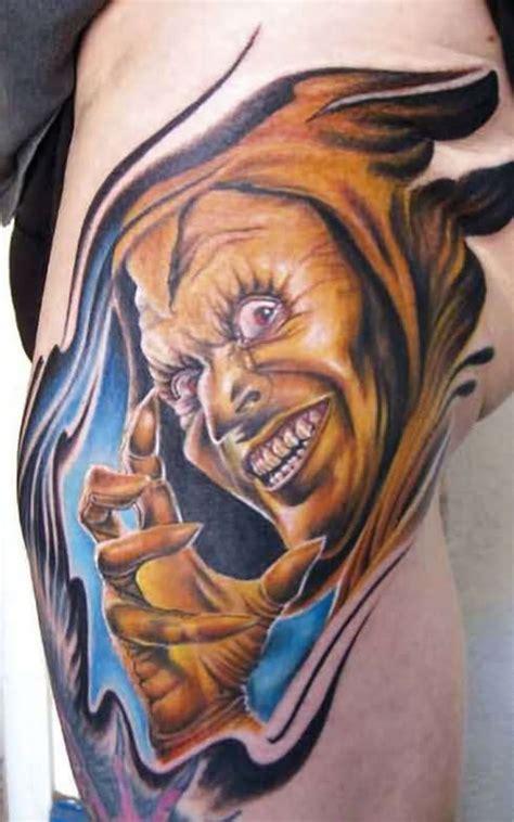 tattoo 3d devil color ink angel and demon tattoo demon tattoo designs