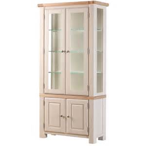 Wooden Cabinet With Glass Doors Glass Display Cabinet The Wood Furniture Company