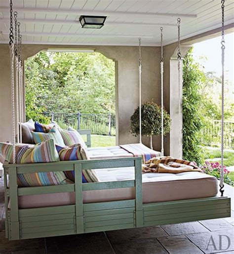 outdoor swinging bed outdoor porch beds that will make nature naps worth it