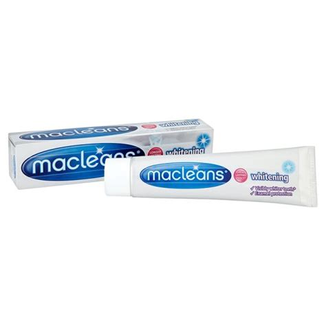 toothpaste whitening macleans whitening toothpaste 100ml groceries tesco groceries