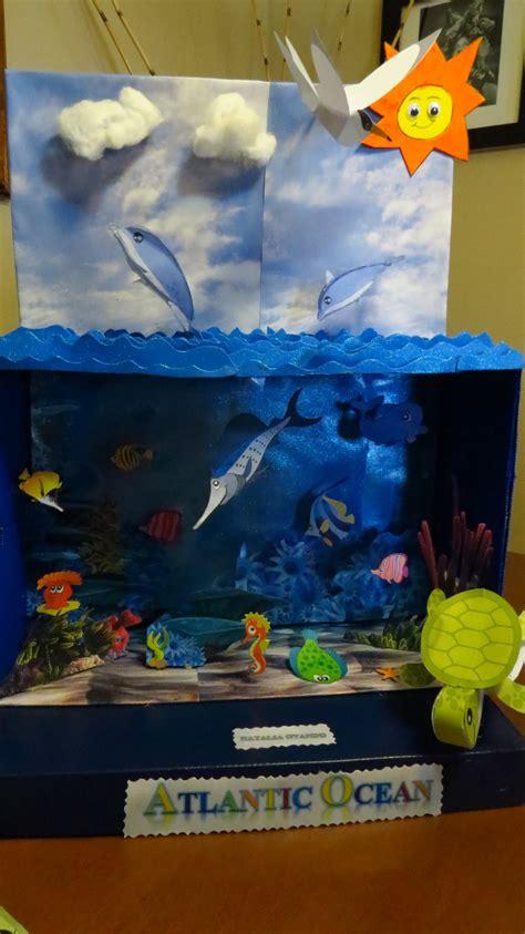 como hacer una maqueta del oceano diorama del oceano youtube