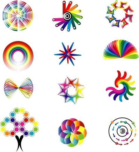 pattern of logo dynamic color logo pattern vector free vector in