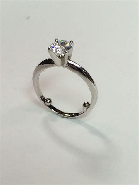 102 carat side stones engagement ring resizing