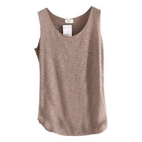 Blouse Tank Top summer womens vest top sleeveless blouse casual tank tops t shirt ebay