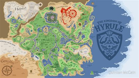 legend of zelda overworld map poster quot breath of the wild hyrule map quot posters by quinton mccain