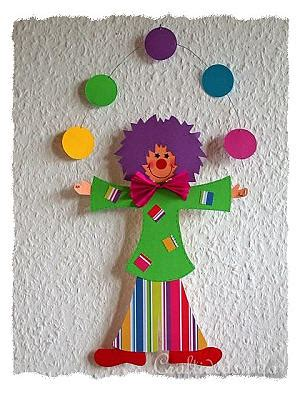 How To Make A Paper Clown - paper craft idea for how to make a paper clown