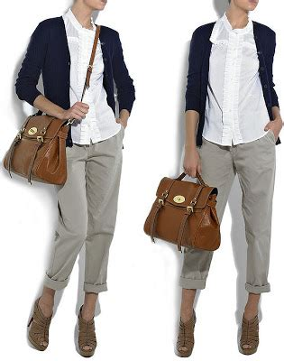 Tas Mulberry Twotone 1648 fashionistas daily the fabulous mulberry oversized satchel inspired by style icon