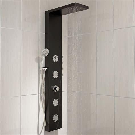 colonne de hydromassante avec robinetterie noir