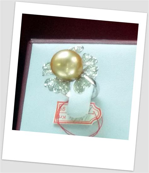 Cincin Mutiara Lombok Perhiasan Accessories 3 handmade gold ring with south sea pearl ctr 104 harga mutiara lombok perhiasan toko emas