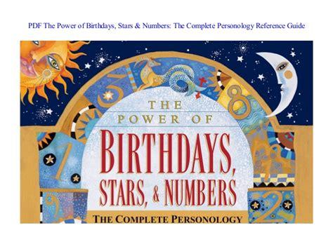 Pdf The Power Of Birthdays Stars Amp Numbers The