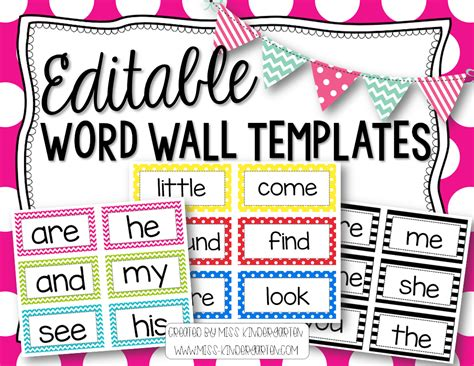 Autism Word Card Editable Template by Word Wall Clipart 61