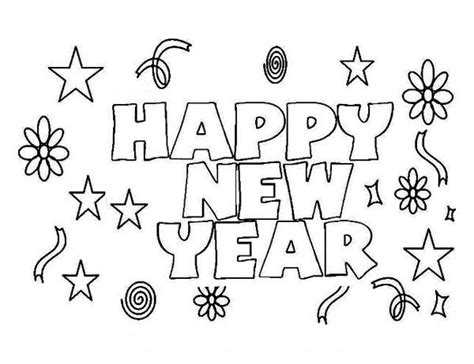 Happy New Year Coloring Pages 2018 Free Printable Happy Happy New Year Coloring Pages