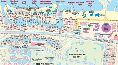 dubai city hotels  attractions map  travelers